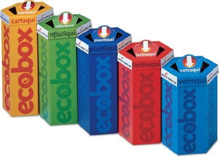 Raccolta differenziata gestione rifiuti carta plastica - Contenitori rifiuti differenziati per casa ...